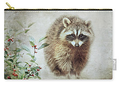 Raccoon In Winterberry Carry-all Pouch