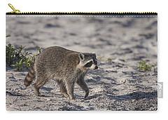 Raccoon On The Beach Carry-all Pouch