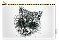 Raccoon Portrait In Ink Carry-all Pouch