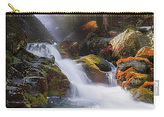 Carry-all Pouch featuring the photograph Race Brook Falls 2017 Square by Bill Wakeley