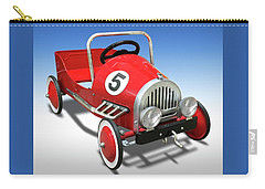 Carry-all Pouch featuring the photograph Race Car Peddle Car by Mike McGlothlen