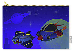 Race Thru Space Carry-all Pouch by Ken Morris