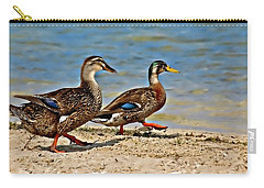 Carry-all Pouch featuring the photograph Race You To The Water by Carolyn Marshall
