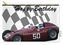 Racing Car Birthday Card 1 Carry-all Pouch by John Colley