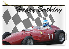 Racing Car Birthday Card 2 Carry-all Pouch by John Colley
