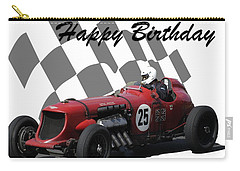 Racing Car Birthday Card 3 Carry-all Pouch by John Colley