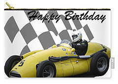 Carry-all Pouch featuring the photograph Racing Car Birthday Card 4 by John Colley
