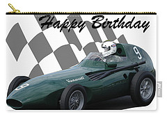 Carry-all Pouch featuring the photograph Racing Car Birthday Card 5 by John Colley
