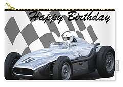 Carry-all Pouch featuring the photograph Racing Car Birthday Card 7 by John Colley