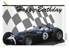 Carry-all Pouch featuring the photograph Racing Car Birthday Card 8 by John Colley