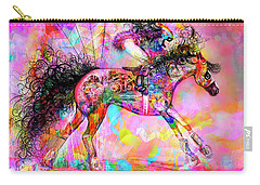 Carry-all Pouch featuring the digital art Racing For Time by Kari Nanstad