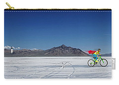 Racing On The Bonneville Salt Flats Carry-all Pouch