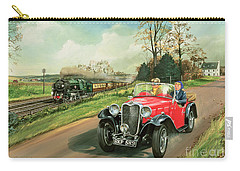 Racing The Train Carry-all Pouch by Richard Wheatland