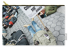 Carry-all Pouch featuring the photograph Racism Is Choking Me by Theodore Jones