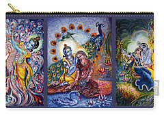 Radha Krishna Cosmic Leela Carry-all Pouch by Harsh Malik