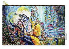Radha Krishna Jhoola Leela Carry-all Pouch by Harsh Malik