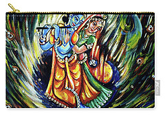 Carry-all Pouch featuring the painting Radhe Krishna by Harsh Malik