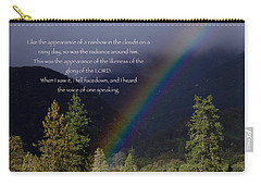 Carry-all Pouch featuring the photograph Radiance Of The Rainbow by Debby Pueschel