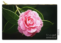 Radiant Camellia Carry-all Pouch