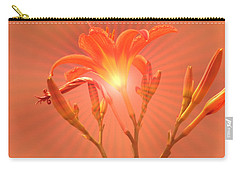 Radiant Square Day Lily Carry-all Pouch