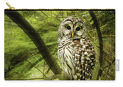 Radiating Barred Owl Carry-all Pouch