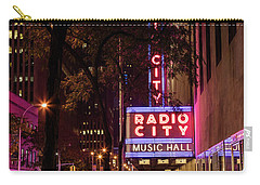 Radio City Music Hall And Tree Carry-all Pouch