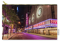 Radio City Music Hall At Night Carry-all Pouch by John McGraw