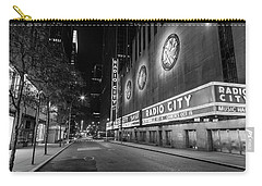 Radio City Music Hall Nyc Black And White  Carry-all Pouch by John McGraw