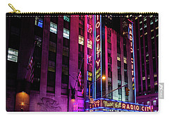 Carry-all Pouch featuring the photograph Radio City Music Hall by M G Whittingham