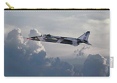Carry-all Pouch featuring the photograph Raf Jaguar Gr1 by Pat Speirs