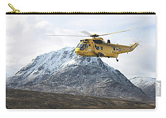 Carry-all Pouch featuring the digital art Raf Sea King - Sar by Pat Speirs