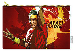 Rafael Nadal Carry-all Pouch by Semih Yurdabak