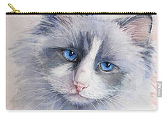 Ragdoll Cat Carry-all Pouch by Bonnie Rinier