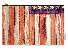 Ragged American Flag Carry-all Pouch by Jill Battaglia