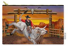 Ride 'em Cowboy Carry-all Pouch by Glenn Holbrook