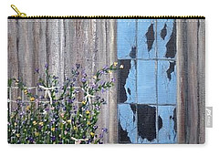 Rags, Sweet Peas And Time Carry-all Pouch by T Fry-Green