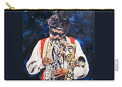 Carry-all Pouch featuring the painting Rahsaan Roland Kirk- Jazz by Sigrid Tune