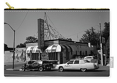 Carry-all Pouch featuring the photograph Raifords Disco Memphis A Bw by Mark Czerniec
