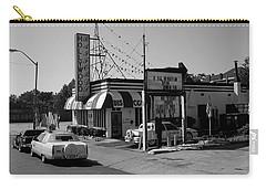 Carry-all Pouch featuring the photograph Raifords Disco Memphis B Bw by Mark Czerniec