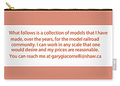 Rail Models By Gary Giacomelli Carry-all Pouch by Gary Giacomelli