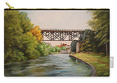Railroad Bridge Over Erie Canal Carry-all Pouch