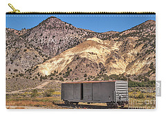 Carry-all Pouch featuring the photograph Railroad Car In A Beautiful Setting by Sue Smith
