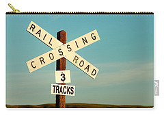 Railroad Crossing Carry-all Pouch by Todd Klassy