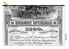 Railroad Official Directory  1893 Carry-all Pouch by Daniel Hagerman