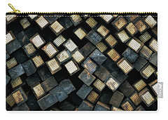 Railroad Ties Stacked Carry-all Pouch by Michelle Calkins