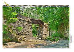Railroad Tracks At Buttermilk/homewood Falls Carry-all Pouch