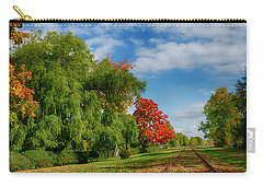 Railroad Tracks At Grand-pre National Historic Site Carry-all Pouch by Ken Morris