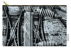 Carry-all Pouch featuring the photograph Railway Detail by Wayne Sherriff