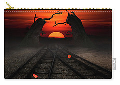Railway To The Sunset Carry-all Pouch by Mihaela Pater