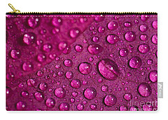 Rain And Bougainvillea Petals Carry-all Pouch by Angelo DeVal